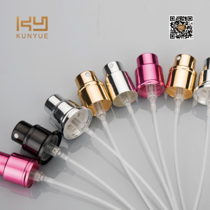 Refillable empty glass perfume atomizer for bottle