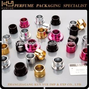 Aluminum collar/closure/shoulder for lotion/perfume bottle