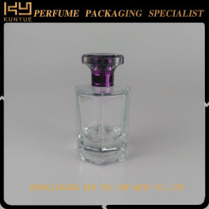 Rectangle High Clear Transparent Perfume glass Bottle Perfume Bottle Simple Style