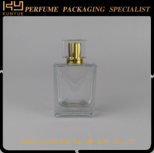 Fabulous extended 50ml empty perfume glass vial with colorful cap