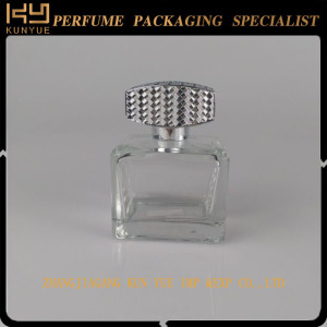 Glass perfume Empty Refill Diffuse Fragrance Car Perfume Bottle With Aluminum Cap