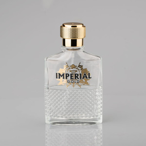 Factory directly wholesale men's clear glass perfume bottle