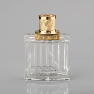 square spray 100ml China manufacturer glass perfume bottle