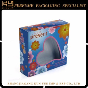 heart shaped paper perfume box for expressing Love