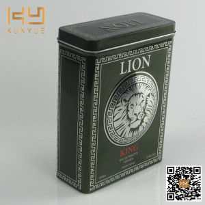 Lion Perfume Packaging Metal Tin Box