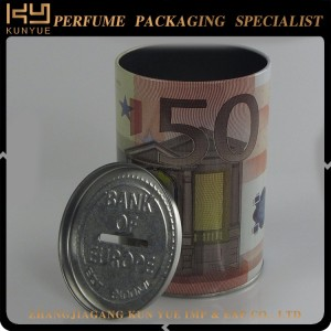 customized design round perfume tin can