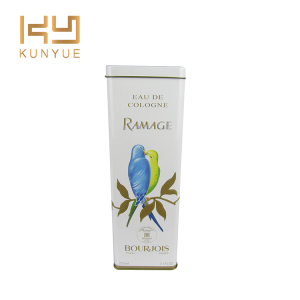 pure beauty bird perfume tin can packaging