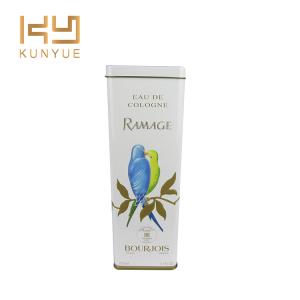 pure beauty bird perfume matel tin can packaging