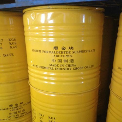 98 % Rongalite 덩어리, 나트륨 Formaldehyde Sulfoxylat 덩어리, Rongalite 덩어리 제조 업체