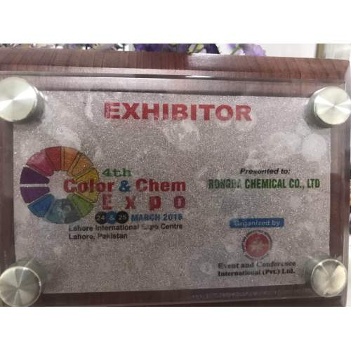 certification of exhibitor 4th Color and Chem Exop on 24-25 March ,2018