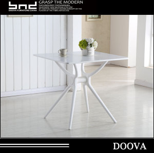 Whole Sale New Design MDF With Powder Coating Top Plastic Leg Dining Table