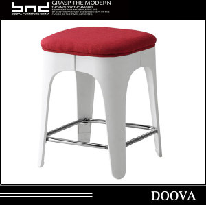 morden leather seat plastic style plastic dining stool chair