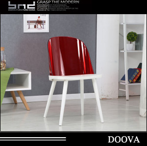 Factory Cheap metal Leg PC Design Plastic Dining Chairs