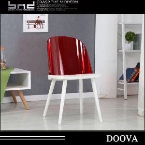 Factory Cheap metal Leg PC Design Plastic Dining Chairs