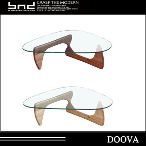High quality glass wooden coffee table from china