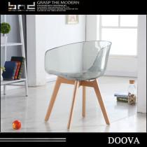 Transparent plastic chair Colorful chair