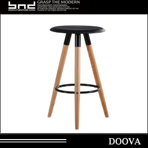 high leg for bar store wood bar stool