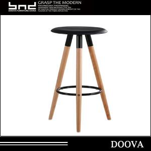 high leg for bar store wood bar stool