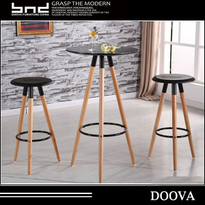 cheap plastic bar chair with wood legs