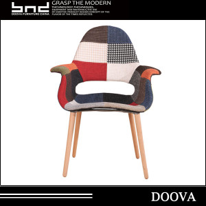 Easy comfy ergonomic fabric accent arm FW090B patchwork chair
