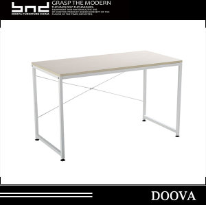 Cheap rectangular office wood standing desk table with metal leg