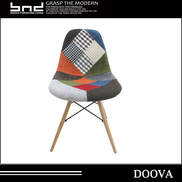 Fashion Patchwork Chair With Wooden Legs Cheap Living Room Chair