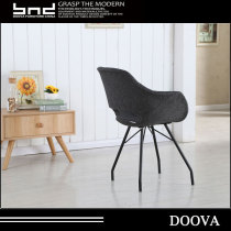 Modern Leisure Fabric Chairs with Wooden Legs Dining Chair PC-081