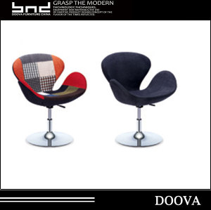 Leather metal swan E007 leisure low back chair
