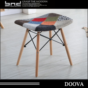 fabric design cheap manufacture beech wood peg stool