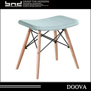 fabric design cheap manufacture beech wood stool