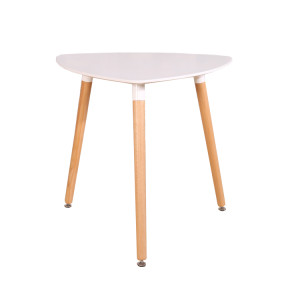 Triangle dining table with beech wood legs