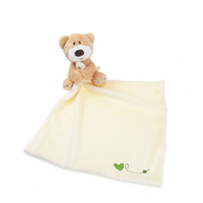 2015 Baby Hand Towel Newborn Cute Bear 28*28cm Soft Square Boys Infant Reassure Towel Bear Kids Appease Towels Baby Care Product