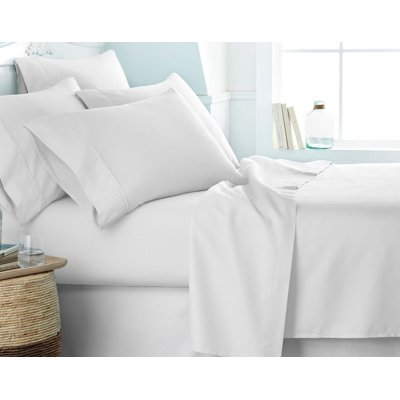 Victoria Bedding Egyptian Cotton 650-Thread-Count 4-Piece Bedding Sheet Set Fit Mattress up to (38) Cm Ultra Soft- Elegant,Comfortable,Soft Hotel & Home Quality!!( White Solid,UK Super King Size )
