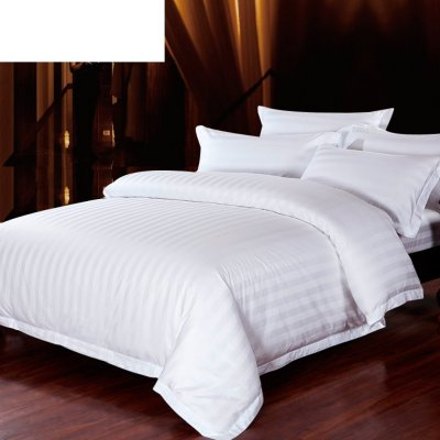 Hotel duvet cover/bedding article/Pure white cotton padded quilt/pure cotton satin Strip quilt-A 240x230cm(94x91inch)