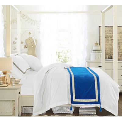 New Collection 100% Cotton Bed Sheet Set White Plain Bedding Set
