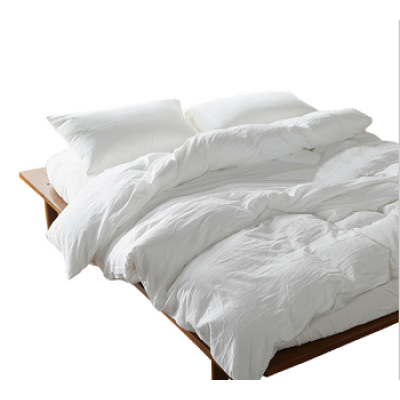 2017 White Quilt Cover Set Solid Color Bedding Sets Bedlinen Full Queen King Size for Kids Teens Adults 100% Cotton