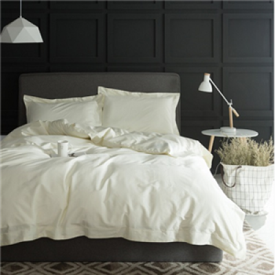 1000TC Egypt cotton White Color Bedding set 4PCS KING QUEEN SIZE tribute silk Hotel Bed set Cotton bed linen bedsheet set