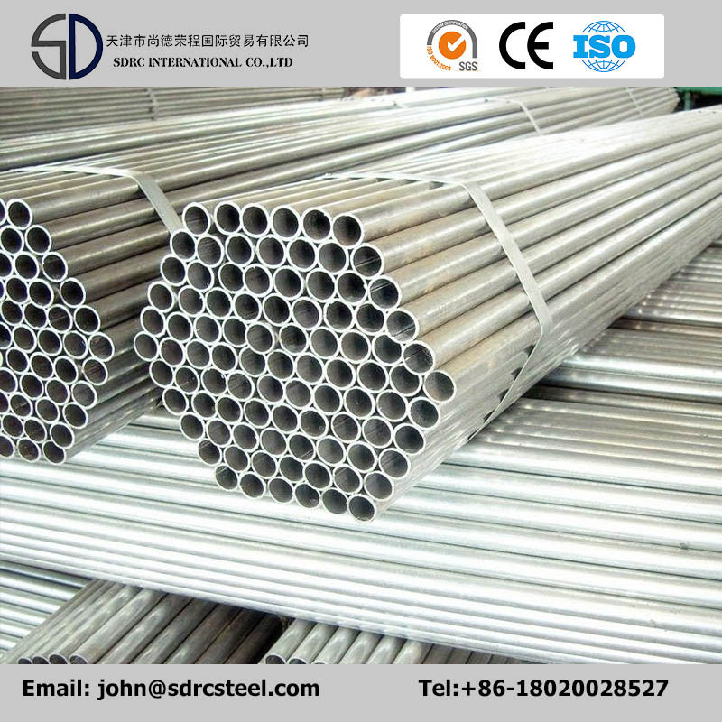 Welded ASTM A53 Grade B Sch40 Pre-Galvanized Round Steel Pipe