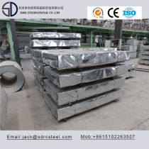SGCC Dx51d A653 SGCH Hot Dipped Galvanized Steel Sheet