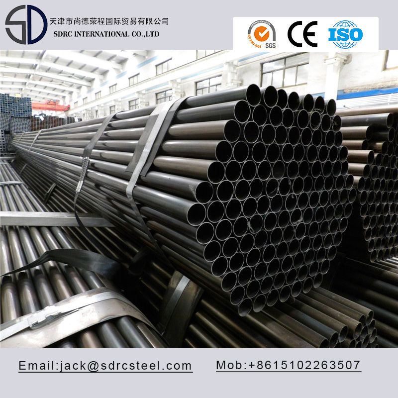 Slight Oiled Round Black Annealed Steel Pipe