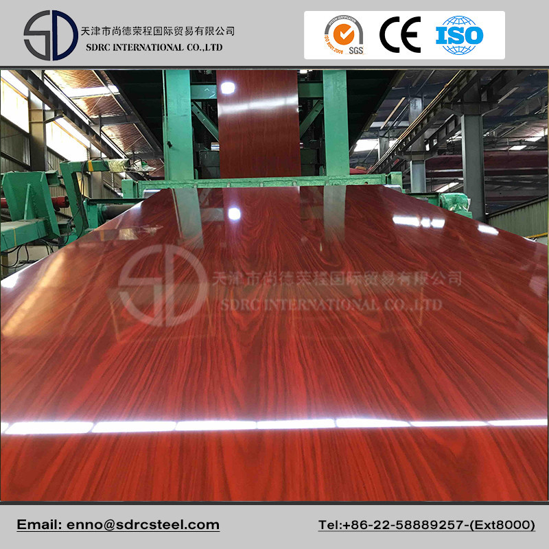 Furniture Using Wooden Pattern PPGI Prepainted Galvanized Steel Coil