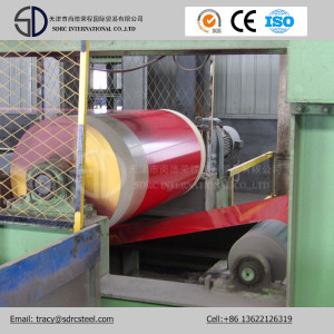 Dx53D Material Wood Pattern Prepainted Steel Coil Grain PPGI Coil