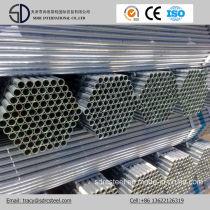 Q235 ERW Galvanized Steel Pipe, Scaffolding Pipe, Gi Pipe in Stock