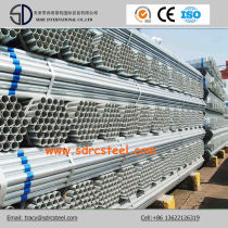 Round Q235 Pre-Galvanized Steel Pipe with Building Material