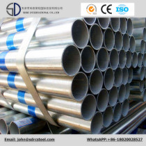 ASTM A36 Pre Galvanized Greenhouse Round Steel Pipe Thickness 0.5-2.5MM