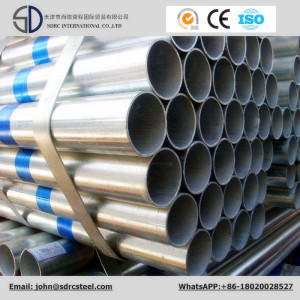 Pre Galvanized Greenhouse Round Steel Pipe Ss400