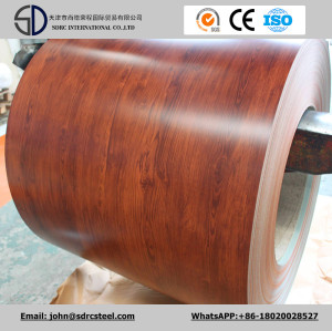 Wood Pattern Color Coated Steel PPGI/PPGL Sheet in Coil 0.2-2.0mm*600-1250mm