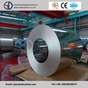 650/1000/1219/1220 Dx51d, SPCC, SGCC bobina de acero galvanizada sumergida caliente