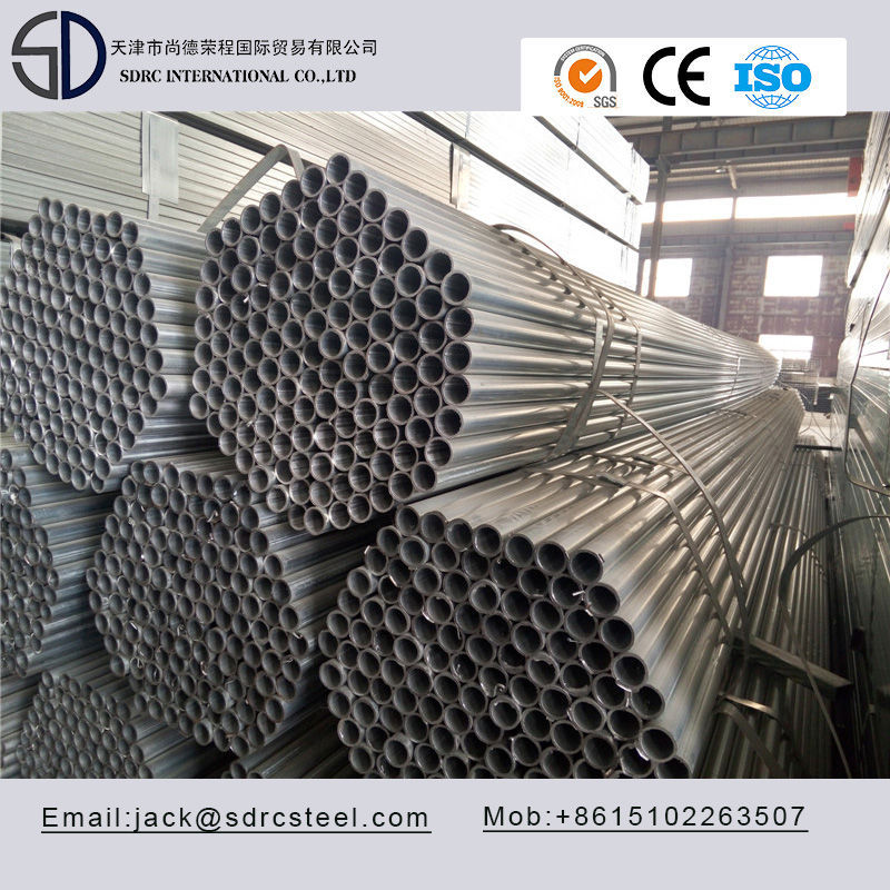 Welded S235JR Pregalvanized Round Steel Pipe/Steel Tube