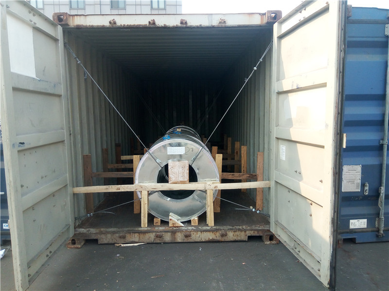 Loading Container Detail of 500 tons Galvanized Steel Coil